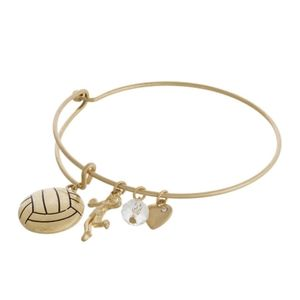 Adorable gold volleyball charm bracelet.